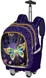 Exclusiv * Schmetterling Mädchen Superlight Smart Schulranzen-Schulrucksack mit Rollen 50x28x20cm Trolley Koffer Handgepäck EDEL -