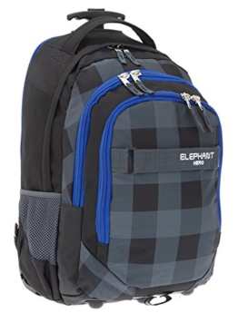 ELEPHANT Trolley HERO SIGNATURE Trolleyrucksack Rucksack Schultrolley (Plaid Black) -