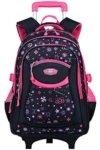 Trolley Rucksack, Coofit Schultrolley Schulrucksack Trolley Kinder Schulranzen Trolley Kinderkoffer Trolley Tasche für Mädchen Jungen - 1