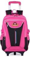 Trolley Rucksack, Coofit Schultrolley Schulrucksack Trolley Kinder Schulranzen Trolley Kinderkoffer Trolley Tasche für Mädchen Jungen (Coofit Rose) - 1